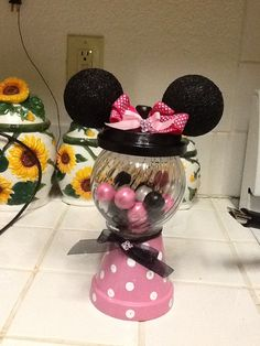 Minnie Mouse Gumball candy machine Centerpiece party favor prize