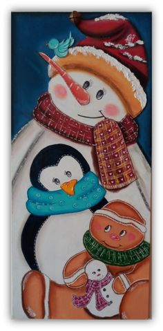 """""""Friends"""" creation with acrylics and soft pastel on wood"""