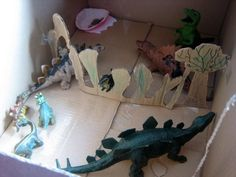 make a dinosaur land
