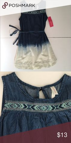 Xhiliration ombré denim dress Girls size 6/6x soft denim ombré dress with embroidered detail and belt. NWT Xhilaration Dresses Casual