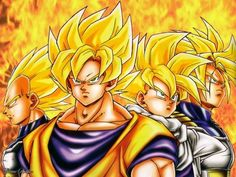 Dragon Ball Z: Goku, Gohan, Vegeta, and Trunks