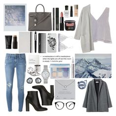 """""""And in that moment, I swear we were forever"""" by angie-5soslm ❤ liked on Polyvore featuring Apiece Apart, Monki, Frame Denim, Organic by John Patrick, Gianvito Rossi, Yves Saint Laurent, NARS Cosmetics, Laura Mercier, Clé de Peau Beauté and Anastasia Beverly Hills"""