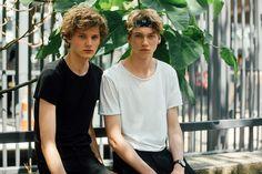 Christopher Paskowski and Ruben Pol #streetstyle #PFW Men SS17 #model