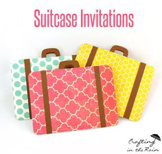 Suitcase Invitations | Crafting in the Rain