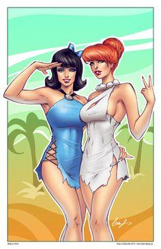 Betty and Wilma by Elias-Chatzoudis.deviantart.com on @deviantART