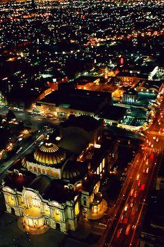 La ciudad de México y palacio de Bellas artes