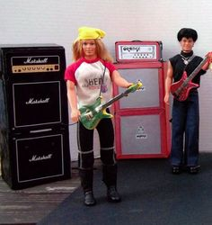 OOAK-Barbie-And-The-Rockers-Dolls-and-Instruments-Lot