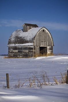 iowa barn in winter.. this reminds me so much of a barn in North Iowa.....