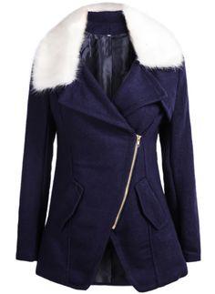 manteau en laine zippé avec poches 34.00