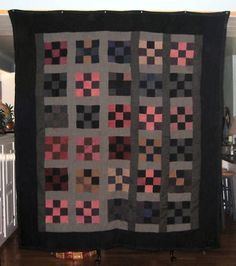 Antique Quilts, Vintage Quilts, Couettes Amish, Quilting Projects, Quilting Designs, Quilting Tips, Amische Quilts, Amish Quilt Patterns, Nine Patch Quilt