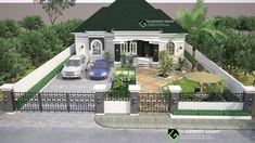 Modern Bungalow Design In Nigeria Pool House Plans, Bungalow House Plans, Bungalow House Design, House Front Design, Modern Bungalow, Best House Plans, Small House Design, Modern House Plans, Modern House Design