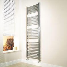 450 x 1600 Beta Heat Square Chrome Heated Towel Rail  - Stainless Steel Bathroom Radiators - Better Bathrooms