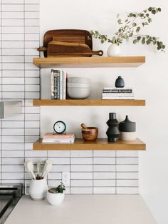 p/the-effortless-chic-kitchen-reveal-fireclay-tile - The world's most private search engine Design Blog, Küchen Design, Layout Design, Study Design, Design Ideas, Kitchen Shelf Decor, Kitchen Shelves, Kitchen Racks, Oak Shelves