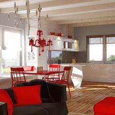Z19 to wyjątkowy dom z kategorii projekty domów parterowych Table, Furniture, Home Decor, Room Decor, Home Interior Design, Desk, Tabletop, Desks, Home Decoration