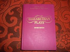 Elizabethan Plays Revised Edition 1971