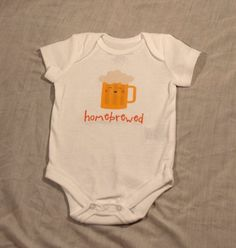 homebrewed beer baby/toddler shirt or bodysuit in sizes NB by kith, $12.00