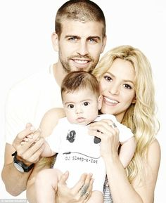 Happy Father's Day! Shakira posted an intimate family portrait with her two main men, boyfriend Gerard Piqué and their son Milan, to her Facebook on Sunday