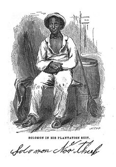 Solomon Northup in a Sketch from Twelve Years a Slave