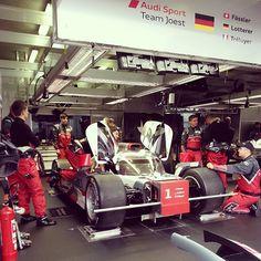 Sneak peak in the #Audi box before the race | #R18 #lm24 #24lm #lemans #quattro #AudiSport #TeamJoest via @Audi Middle East