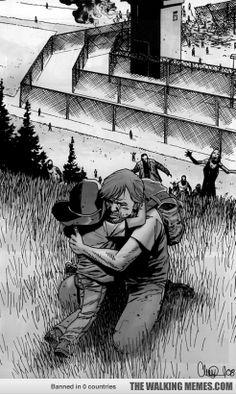 rick & carl - the walking dead comics