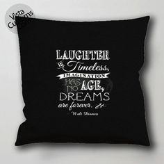 Disney quotes 1 pillow case, cushion cover ( 1 or 2 Side Print With Size 16, 18, 20, 26, 30, 36 inch )