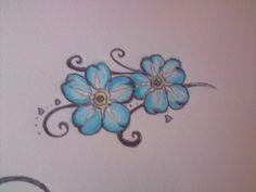forget-me-not flower tattoos Tattoo Designs Wrist, Flower Tattoo Designs, Wrist Tattoos, Sexy Tattoos, Cute Tattoos, Beautiful Tattoos, Flower Tattoos, Small Tattoos, Tattos