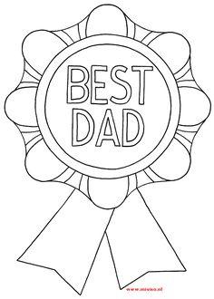 Nieuwe kleurplaat van vaderdag best dad. Het is een leuke kleurplaat ....