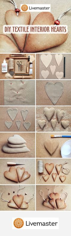 DIY Textile Interior Hearts | Шьем текстильное «пряничное» сердечко для интерьера