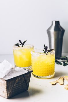 The High Noon (a golden watermelon cocktail)