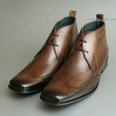 Exceed Mens Brown Wingcap Chukka Boots from Arthur Knight Shoes