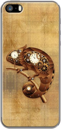 Chameleon clock on the wall - so cool!