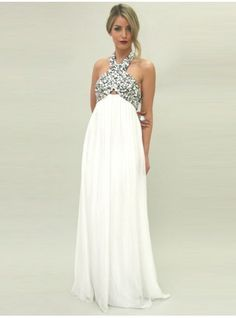 2014 Maternity Evening Gowns A Line Empire Off Shoulder Sleeveless ...