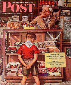 Norman Rockwell...I remember standing there myself...with all the world to choose from...penny candy.