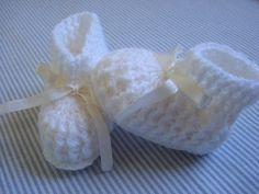 Receita de Crochê Infantil: Sapatinho de croche