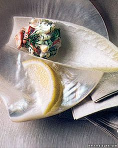 Lobster Salad on Endive Spears Could do this with crab or even tuna Gluten free appetizer