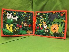Quiet book animales de la selva