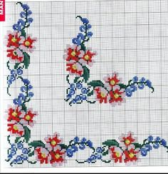 Cross Stitch Rose, Cross Stitch Borders, Cross Stitch Patterns, Prayer Rug, Bargello, Embroidery Patterns, Diy And Crafts, Kids Rugs, Canvas