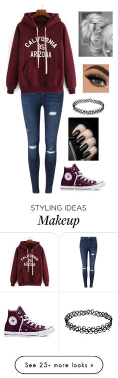 """""""Untitled #745"""" by delioria on Polyvore featuring Miss Selfridge, Converse, women's clothing, women, female, woman, misses and juniors"""