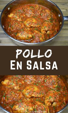 Pollo en salsa is chicken in tomato sauce with a Latin flair. This pollo en salsa recipe is easy to make. We use skinless, boneless chicken thighs because they stay juicy and flavorful, but cook up quick. Boneless Chicken Thighs, Cooking For Beginners, Easy Family Dinners, Winner Winner Chicken Dinner, Chicken Thigh Recipes, Salsa Recipe, Tomato Sauce, Quick Meals, Casserole Recipes