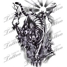 Marketplace Tattoo japanese style tiger half sleeve #4563 | CreateMyTattoo.com
