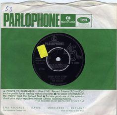"The Hollies - Stop Stop Stop, 7"" vinyl single, Parlophone, c.1966, Graham Nash #vinyl"