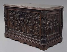 15th c. French walnut chest