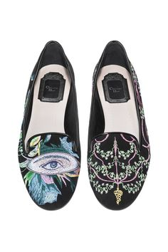 82fd98498b57 Wish List  Diors Surreal Embroidered Suede Loafers. Dior ShoesShoes ...