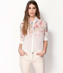 #CUTE! #Want This! Vintage Style Floral Pattern Long Sleeve Blouse - $17.99