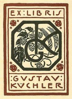 Bookplate by Emil Orlik for Gustav Kuchler, ??