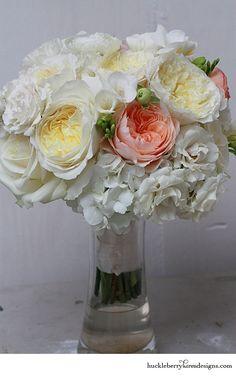 Patience garden rose, Juliet garden rose, freesia, spray rose, ranunculus  hydrangea, vendela roses, and lisanthus - Huckleberry Karen