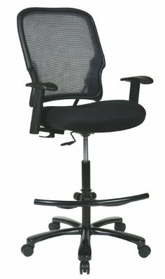 Space Seating Big Man's Dark AirGrid Drafting Chair by Space Seating. $314.59. Double airgrid back drafting chair with black mesh seat. Dual Wheel Carpet Casters. One touch pneumatic seat height adjustment. Optional a27wa arms available. 325 lb weight capacity. Double AirGrid Back Drafting Chair with Black Mesh Seat, Adjustable Footring, Gunmetal finish base. Pneumatic Seat height adjustment Big Mans Drafting Chair without Arms, hold up to 325-pound. Optional A27WA A...