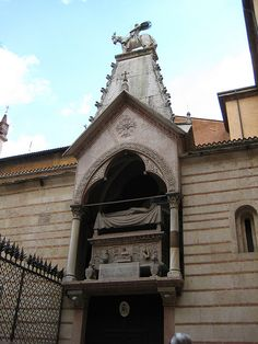 A Gothic tomb of the Scaligeri, a powerful medieval ruling family of Verona.