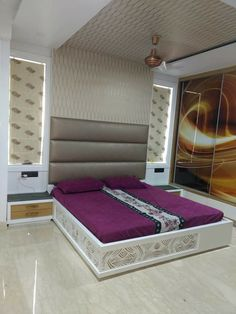 Bedroom Lamps Design, Pooja Room Design, Bedroom False Ceiling Design, Room Door Design, Modern Bedroom Design, Master Bedroom Design, Home Decor Bedroom, Beautiful Bed Designs, Couches