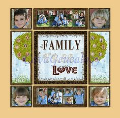 Family Tree canvas collage